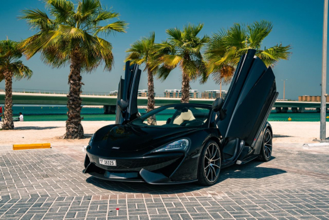 McLaren 570S Spider Черный 1